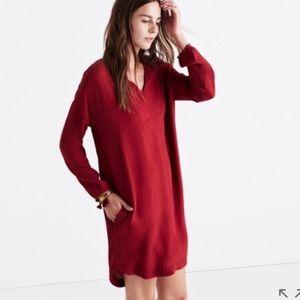 Madewell Red Du Jour Tunic Dress